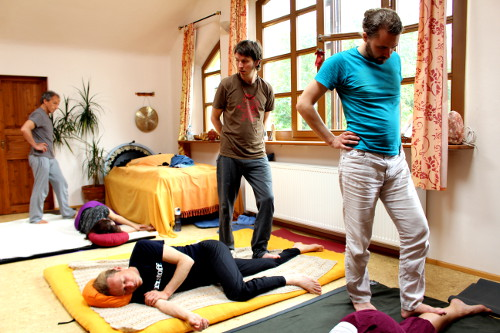 Massage Beinlinien