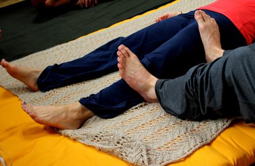Massage mit Fuß