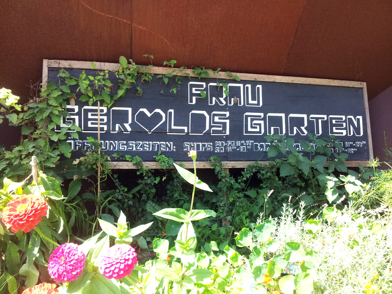Schild Gerolds Garten