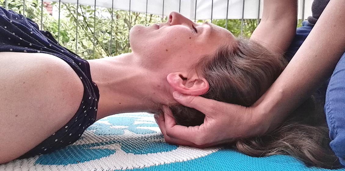 Thai Yoga-Griffe für den Yogaunterricht