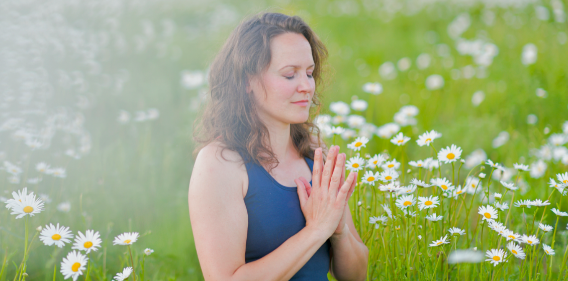 Draußen meditieren